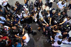 Daniel Ricciardo, Red Bull Racing et Max Verstappen, Red Bull Racing parle aux médias