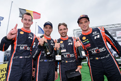 Winners Thierry Neuville, Nicolas Gilsoul, Hyundai Motorsport, second place Hayden Paddon, Sebastian Marshall, Hyundai Motorsport