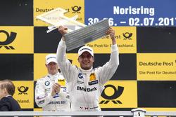 Podium: Race winner Bruno Spengler, BMW Team RBM, BMW M4 DTM