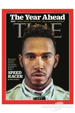Portada de la revista Time con Lewis Hamilton