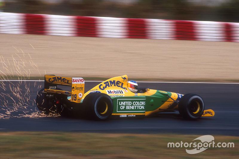 Desenho clássico de Michael Schumacher - 1992