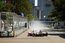 Felix Rosenqvist, Mahindra Racing, en Stéphane Sarrazin, Techeetah