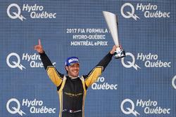 Jean-Eric Vergne, Techeetah, sur le podium après sa victoire