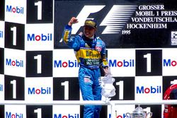 Podium: Michael Schumacher, Benetton B195 Renault