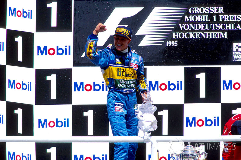 Podium: Michael Schumacher, Benetton