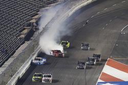 Austin Wayne Self, AM Racing Toyota  crash