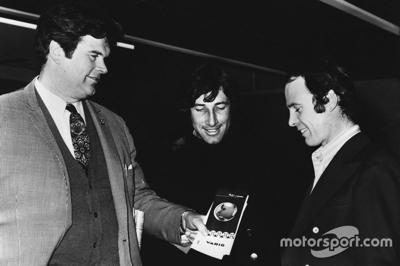 1971, Tim Parnell, Yardley BRM team manager with Howden Ganley and Peter Gethin