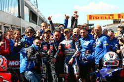 2. Florian Marino, Pata Yamaha Official STK 1000 Team, 3. Roberto Tamburini, Pata Yamaha Official ST