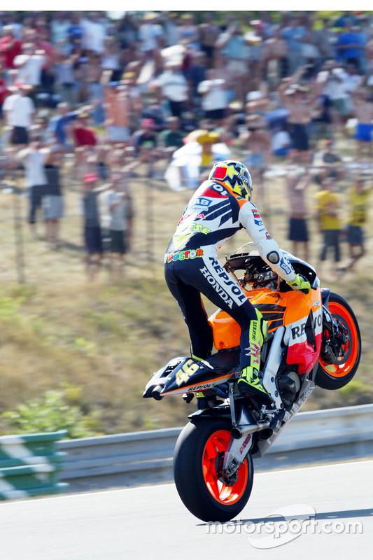 Ganador de la carrera Valentino Rossi, Honda