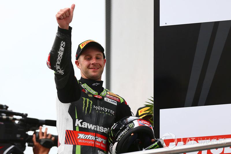 Podium: segundo, Jonathan Rea, Kawasaki Racing