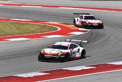 #911 Porsche Team North America Porsche 911 RSR: Patrick Pilet, Dirk Werner, #912 Porsche Team North