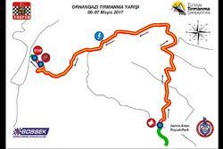 2017 Bursa Tırmanma Etap Haritası
