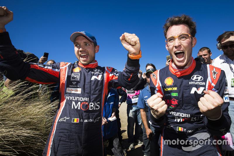 3. Ganadores Thierry Neuville, Nicolas Gilsoul, Hyundai i20 WRC, Hyundai Motorsport
