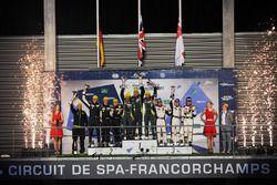 GTE-Am-Podium: 1. Paul Dalla Lana, Pedro Lamy, Mathias Lauda, Aston Martin Racing; 2. Christian Ried