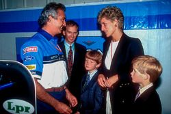 Flavio Briatore, Benetton, met Prinses Diana en Prins Harry
