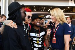 Rachel Brooks, Sky TV con, William James Adams aka Will.I.Am, Black Eyed Peas, Jaime Luis Gómez aka