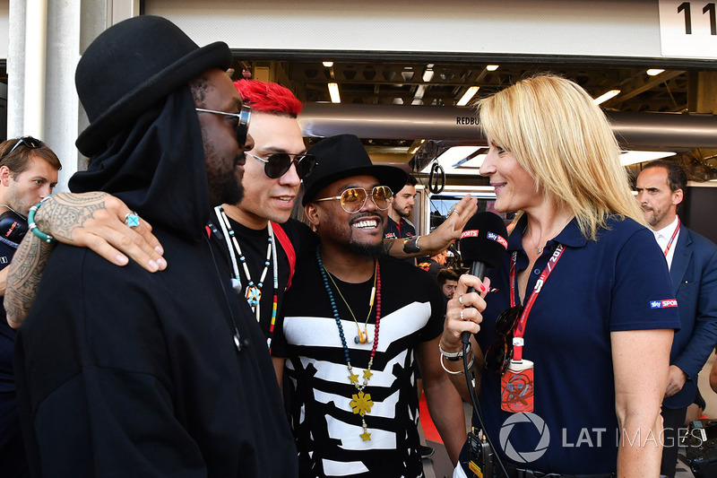 Rachel Brooks, Sky TV con, William James Adams aka Will.I.Am, Black Eyed Peas, Jaime Luis Gómez aka