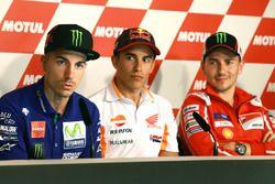 Maverick Viñales, Yamaha Factory Racing, Marc Marquez, Repsol Honda Team, Jorge Lorenzo, Ducati Team