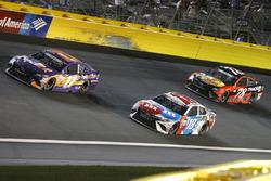 Denny Hamlin, Joe Gibbs Racing, Toyota; Kyle Busch, Joe Gibbs Racing, Toyota; Martin Truex Jr., Furn