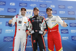 Trophy Podium: first place Rob Huff, All-Inkl Motorsport, Citroën C-Elysée WTCC, second place Mehdi Bennani, Sébastien Loeb Racing, Citroën C-Elysée WTCC, third place Esteban Guerrieri, Campos Racing, Chevrolet RML Cruze TC1