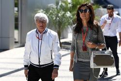 Bernie Ecclestone y su esposa Fabiana Ecclestone
