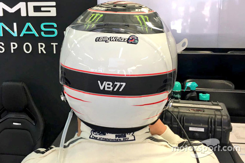 Valtteri Bottas, Mercedes AMG F1 with #BillyWhizz signage