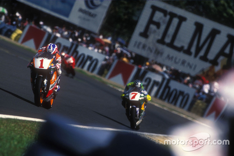 Mick Doohan, Repsol Honda Team e Alex Barros, Team Pileri - 1996