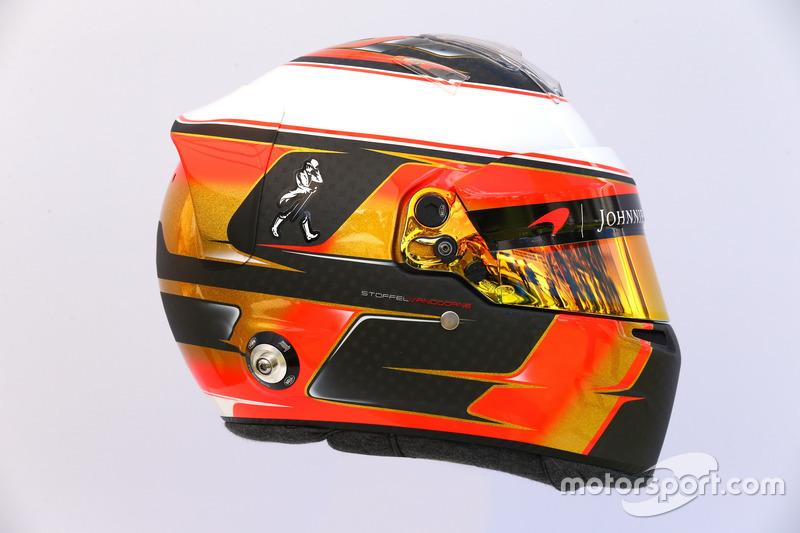 Helm von Stoffel Vandoorne, McLaren