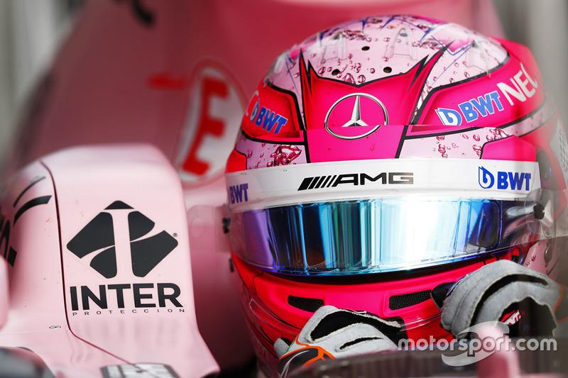 Casco de Esteban Ocon, Force India