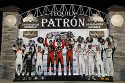 PC podium: ganadores, James French, Kyle Mason, Patricio O'Ward, Performance Tech Motorsports, segun