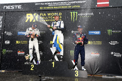 Podio: il vincitore Johan Kristoffersson, PSRX Volkswagen Sweden, VW Polo GTi, il secondo classifica