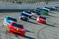 Justin Allgaier, JR Motorsports Chevrolet and Daniel Hemric, Richard Childress Racing Chevrolet
