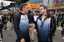 Mario Isola, Pirelli Sporting Director and Paul Hembery, Pirelli Motorsport Director