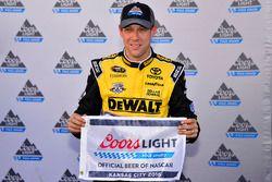 Le détenteur de la pole position, Matt Kenseth, Joe Gibbs Racing Toyota