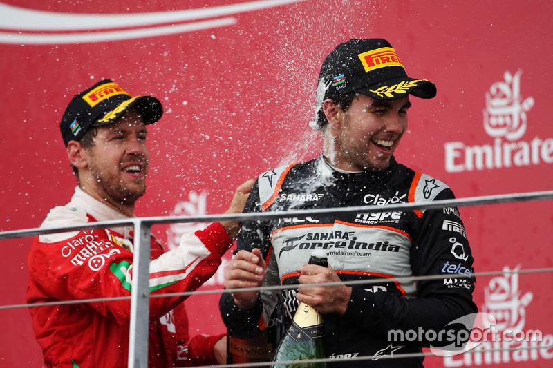 Sergio Pérez, Sahara Force India F1 celebra