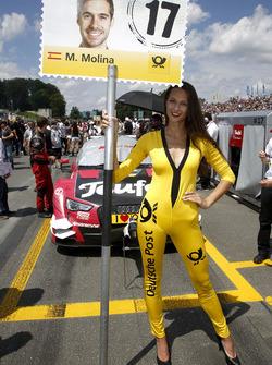 Gridgirl für Miguel Molina, Audi Sport Team Abt Sportsline, Audi RS 5 DTM