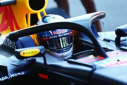 Daniel Ricciardo, Red Bull Racing RB12 con el Halo