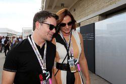 Jeff Gordon mit Ehefrau Ingrid Vandebosch