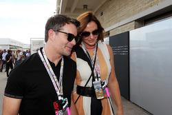 Jeff Gordon, Former NASCAR Driver with his wife Ingrid Vandebosch (BEL)