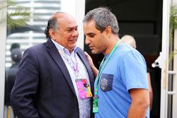 (L to R): Antonio Perez, father of Sergio Perez, Sahara Force India F1 Team with Juan Pablo Montoya
