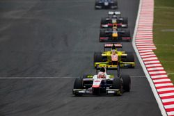Luca Ghiotto, Trident leads Mitch Evans, Pertamina Campos Racing