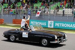 Nico Rosberg, Mercedes AMG F1 en el desfile de pilotos