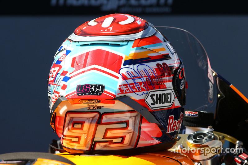 Marc Márquez, Repsol Honda Team, casco dañado