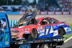 Ricky Stenhouse Jr., Roush Fenway Racing Ford, auto chocado