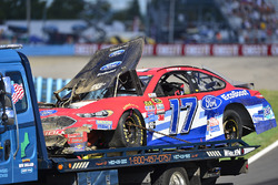 Ricky Stenhouse Jr., Roush Fenway Racing Ford, crashed car