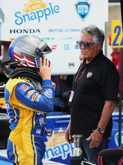 Marco Andretti, Andretti Autosport, Honda; Mario Andretti