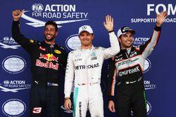 Qualifying: 3. Daniel Ricciardo, Red Bull Racing RB12; 1. Nico Rosberg, Mercedes AMG F1; 2. Sergio P