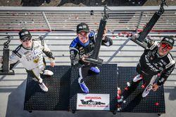 Подиум: Симон Пажено (победитель), Грэм Рейхол (второе место) и Джозеф Ньюгарден (третье место)