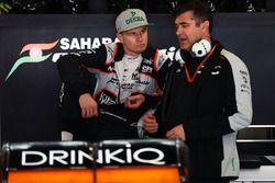Nico Hulkenberg, Sahara Force India F1 con Bradley Joyce, Sahara Force India F1 ingeniero de carrera