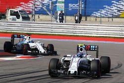 Valtteri Bottas, Williams FW38 leads team mate Felipe Massa, Williams FW38